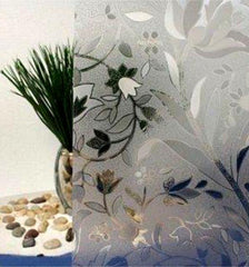 Cut Glass Floral | Privacy (Static Cling) - Window Film World