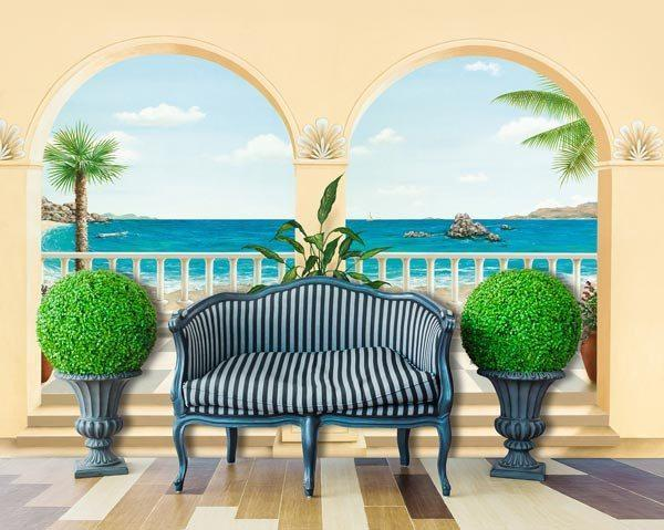 Terrasse Provencale Wall Mural - Window Film World