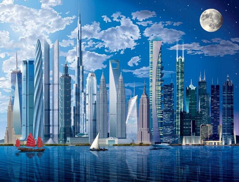Worlds Tallest Buildings Wall Mural - Window Film World