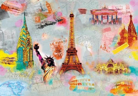 Around The World Wall Mural - Window Film World