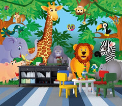 In The Jungle Wall Mural - Window Film World