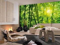 Bamboo Forest Wall Mural - Window Film World
