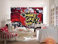 No More Grey Walls Wall Mural - Window Film World