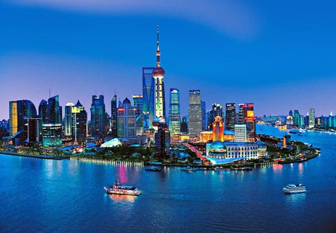 Shanghai Skyline Wall Mural - Window Film World