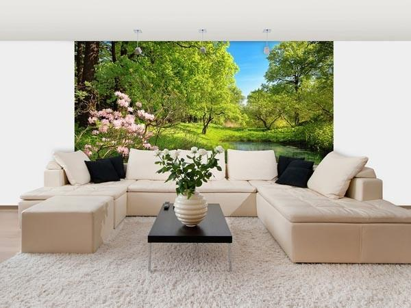 Park In The Spring Wall Mural - Window Film World