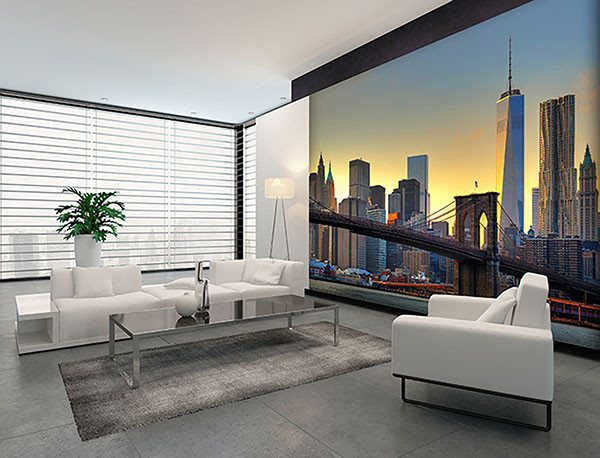 Brooklyn Bridge At Sunset Wall Mural - Window Film World