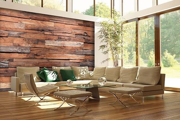 Reclaimed Wood Wall Mural - Window Film World