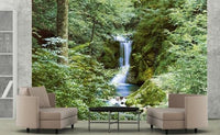 Waterfall In Spring Wall Mural - Window Film World