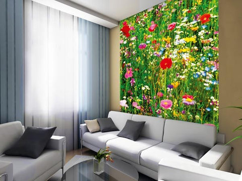 Flower Field Wall Mural - Window Film World