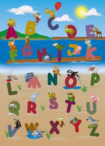 Animal Alphabet Wall Mural - Window Film World
