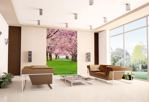 Cherry Trees Wall Mural - Window Film World