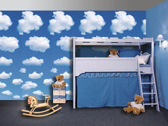 White Clouds Wall Mural - Window Film World