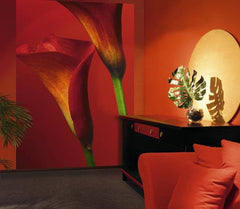 Red Calla Lillies Wall Mural - Window Film World