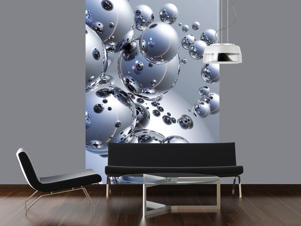 Silver Orbs Wall Mural - Window Film World