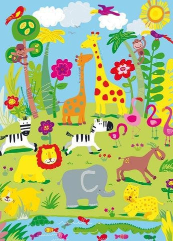 Animal Safari Wall Mural - Window Film World