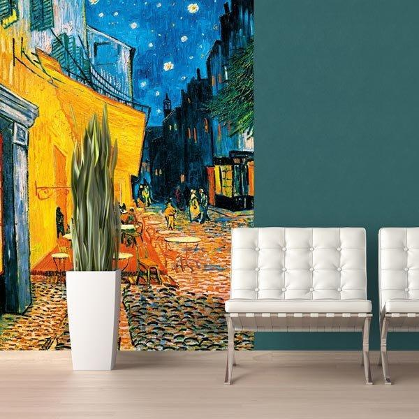Terrasse De Cafe La Nuit Wall Mural - Window Film World
