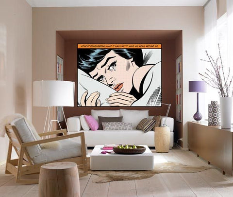 Crying Woman Wall Mural - Window Film World