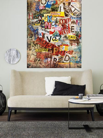 Grunge Typo Wall Mural - Window Film World