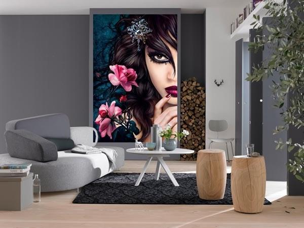 Midnight Rose Wall Mural - Window Film World