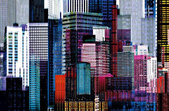 Colorful Skyscrapers Wall Mural - Window Film World