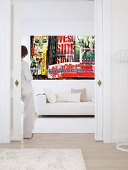 Times Square Neon Stories Wall Mural - Window Film World