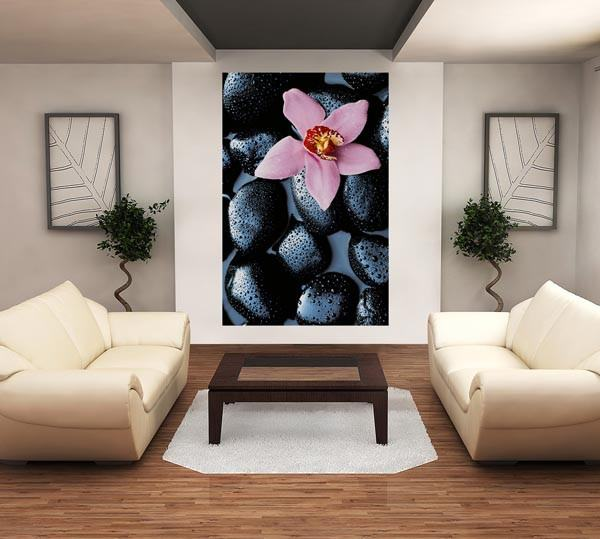 Stone Orchid Wall Mural - Window Film World
