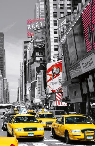 Times Square Ii Wall Mural - Window Film World