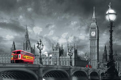 Bus On Westminster Bridge Wall Mural - Window Film World
