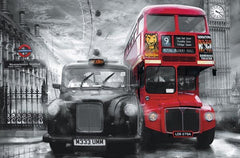 Taxi And Bus Wall Mural - Window Film World