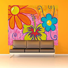 Spring Flowers Wall Mural - Window Film World
