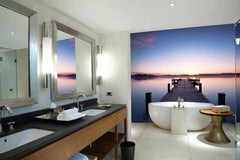 Pier At Sunrise Wall Mural - Window Film World