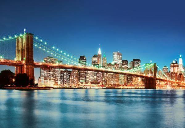New York East River Wall Mural - Window Film World