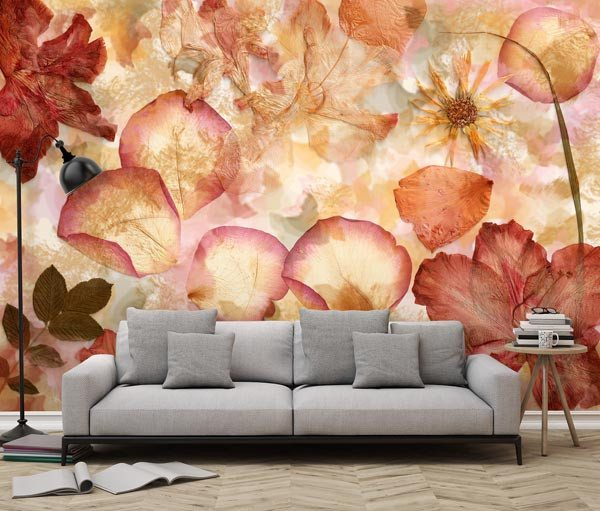 Dried Flowers Wall Mural - Window Film World