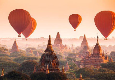 Balloons over Bagan Wall Mural - Window Film World