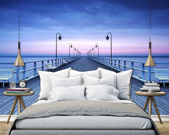 Pier at the Seaside Wall Mural - Window Film World
