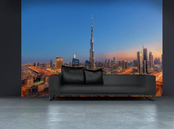 Burj Khalifah Wall Mural - Window Film World