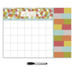 Pop Art Monthly Dry Erase Calendar Decal With Notes - Window Film World