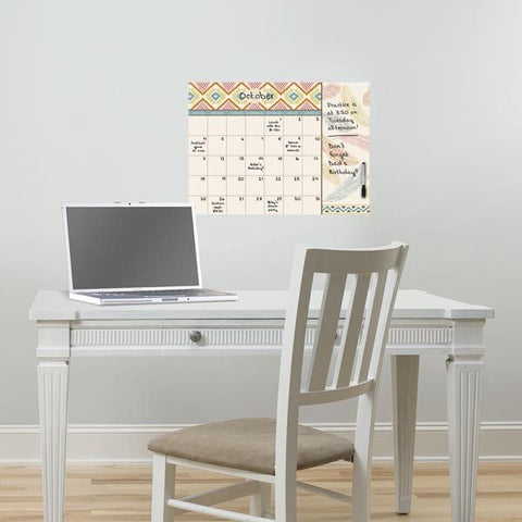 Tribal Beat Monthly Dry Erase Calendar Decal With Notes - Window Film World