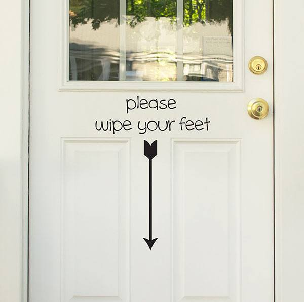 Please Wipe your Feet Door Decal - Window Film World