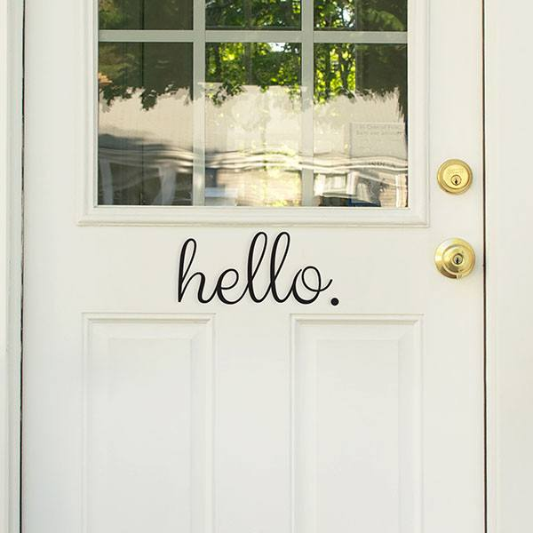 Hello Goodbye Door Decal - Window Film World