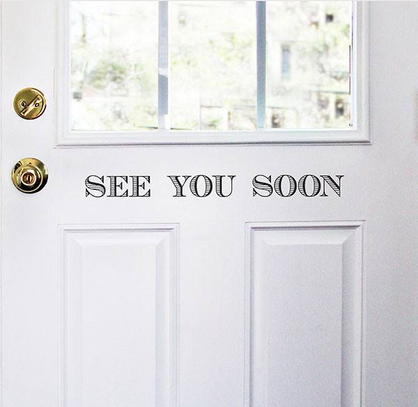 Welcome/See you Soon Door Decal - Window Film World