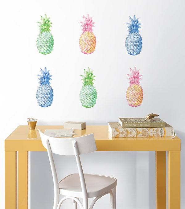 Pop Pineapples Wall Art Kit - Window Film World