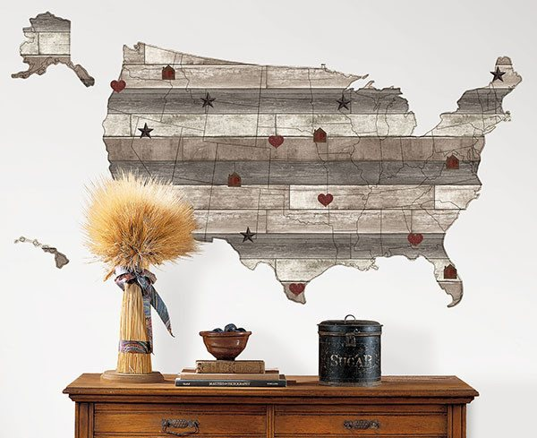 Country Living US Map Decal - Window Film World