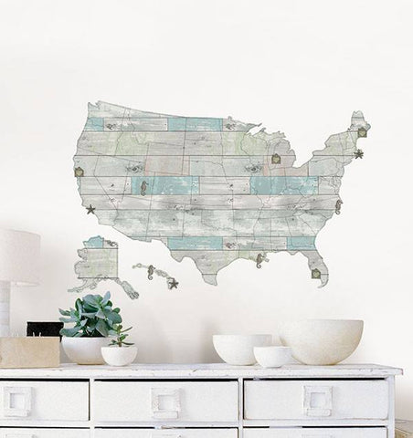 Beach Lover US Map Decal - Window Film World