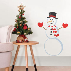 Decorate a Snowman Small Wall Art Kit - Window Film World
