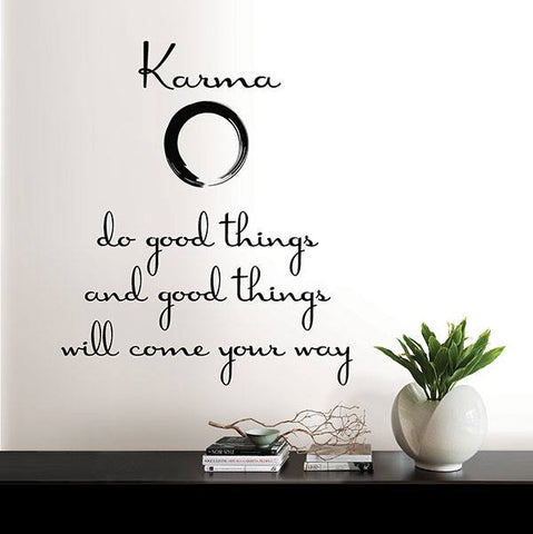Karma Wall Quote - Window Film World