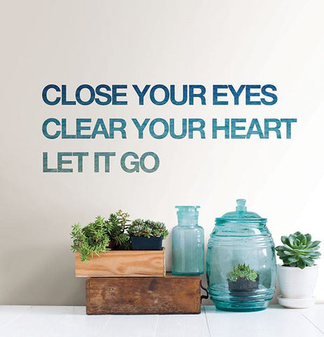 Let it Go Wall Quote - Window Film World