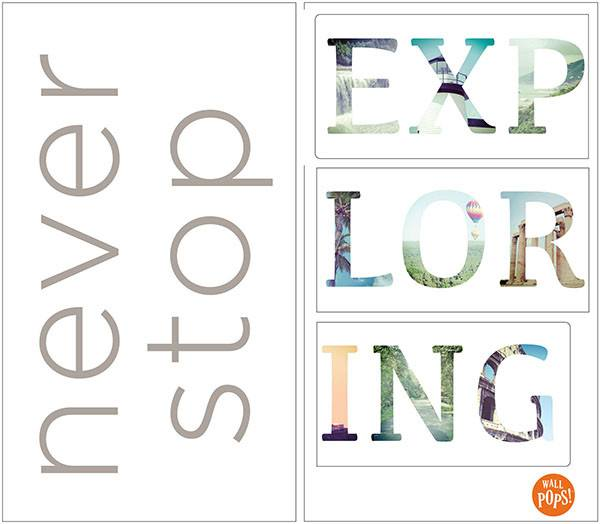 Never Stop Exploring Wall Quote - Window Film World