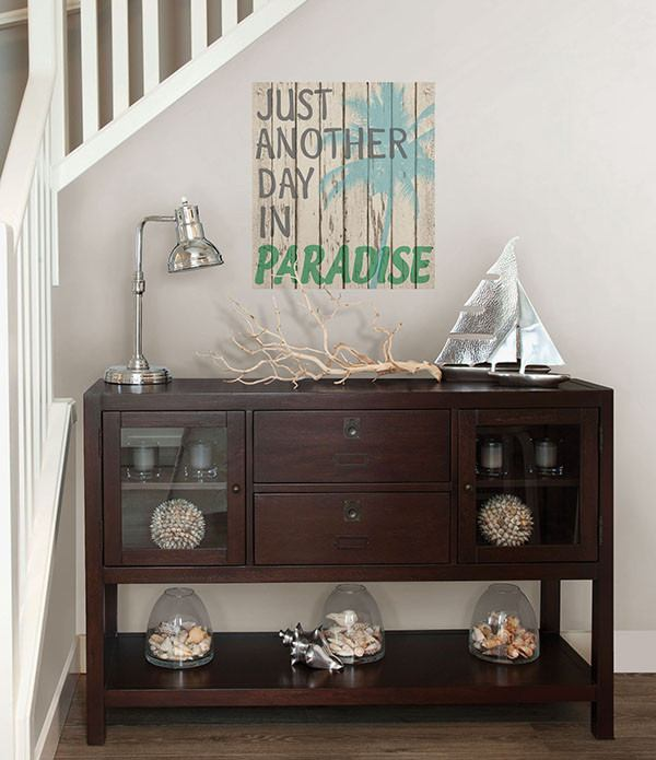 Paradise Wall Quote - Window Film World