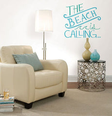 Beach is Calling Peel and Stick Wall Quote - Window Film World
